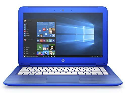 "HP Stream 13-c101ns - Portátil de 13.3"" (Intel Celeron N2840, 2 GB de RAM, disco de 32 GB eMMC + 1 TB One Drive, Office 365 Personal, Windows 10 x64), azul - teclado QWERTY Español"