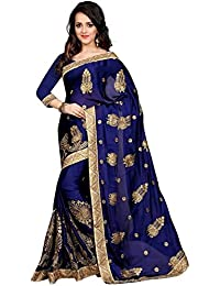 Indian E Fashion Women's Faux Georgette Party Wear Fancy Saree With Blouse Piece (SHONAYABLUE-sarees For Women...