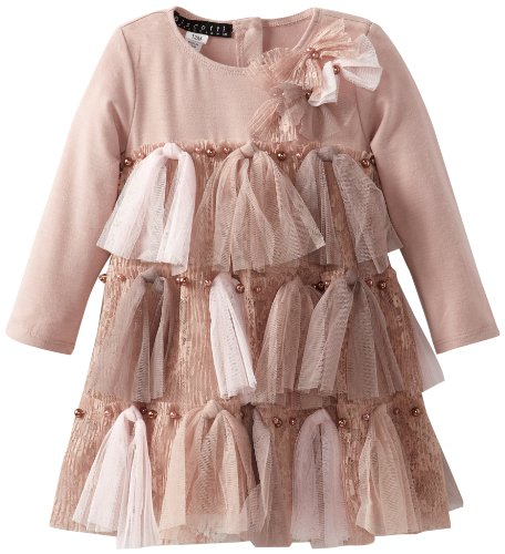 Biscotti Baby-Girls Infant Twist Of Fate Long Sleeve Dress, Cocoa/Light Brown, 24 Months  Best Offer