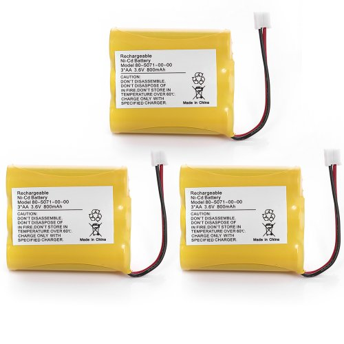 3 Packs 3.6V 800Mah Cordless Phone Battery Replacement For Vtech 8050710000 80-5071-00-00 Motorola Md-7081 Md-7091Md-481Sys