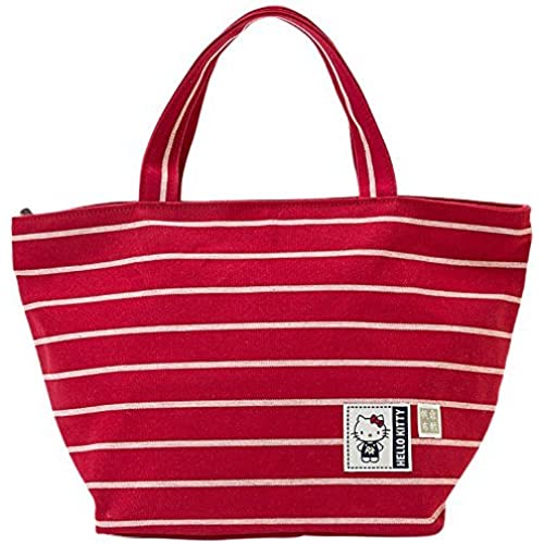[Hello Kitty] Kurashiki canvas tote bag M Red Steel Japan tote bag [병행수입품]-