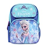 "Disney Frozen Princess Elsa Sparkle Backpack, Large 16"" School Bag, New Licensed Design"
