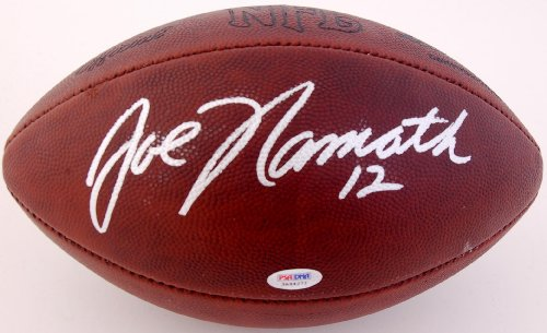 Joe Namath Signed Old Duke - Autographed Footballs