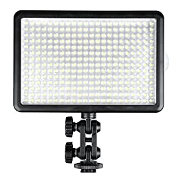 Godox Professional LED308C Wireless Remote LED Video Light Changeable Version 3300-5600K for Wedding, Macrophotography, Photojournalistic and Video Recording + CEARI MicroFiber Clean Cloth