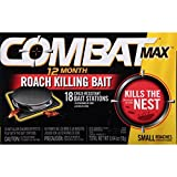 Combat 12 Month Roach Killing Bait, Small Roach Bait Station, 18 Count