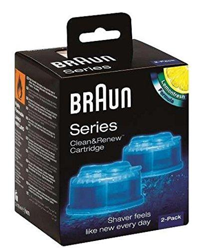 Braun Clean and Renew Cartridge Lemonfresh 100% Original 2-Pack (Braun Razor Clean And Renew compare prices)
