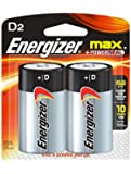 "Energizer D Alkaline General Purpose Battery ""D"" Size 2PK E95BP-2"