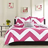 Mizone Libra 4 Piece Duvet Cover Set, Full/Queen, Pink
