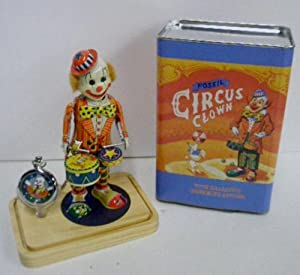 Fossil Clown pocketwatch Mechanical wind up toy Limited Edition LE-9491
