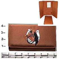 "Wallet ~ ""Horse w/Horseshoe"" ~ Brown"