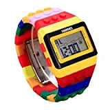 DDLBiz Fashion LED Sports Watch Colorful Digital Wrist Watch for Man Women Girls Boys Kid Children Easy To Read