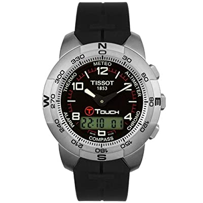 Tissot Men's T33779851 T-Touch Titanium Black Rubber Watch
