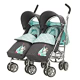 Obaby Apollo V2 Twin Stroller with Footmuffs - Retro Mickey Denim
