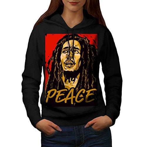 Bob Marley Cantante Famoso Da donna Nuovo Nero M Felpa Con Cappuccio | Wellcoda