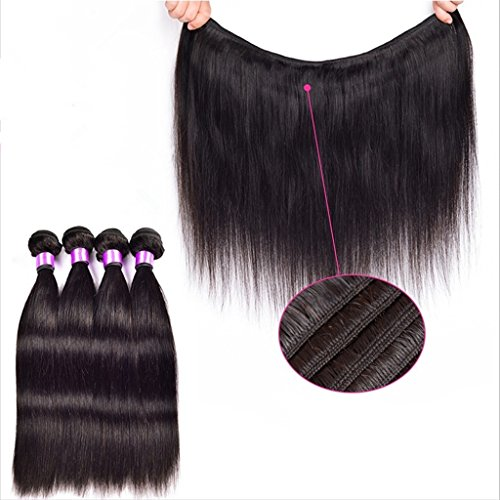 Danolsmann-Hair-6A-Grade-100-Indian-Remy-Human-Hair-Weft-Real-Virgin-Indian-Hair-Extensions-Silk-Straight-4-Bundles-400-Grams-Unprocessed-Natural-Black-Color
