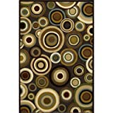 Central Oriental 8716DW28 Fusion Hypnotic Dark Wine 2-Feet by 7-Feet 7-Inch Area Rug
