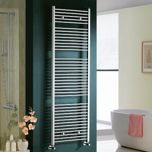 Maine Chrome Straight Towel Rail Radiator - 1800x600mm
