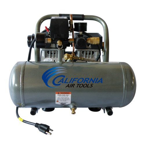 California Air Tools CAT-1610A Ultra Quiet and Oil-Free 1.0 HP 1.6-Gallon Aluminum Tank Air Compressor