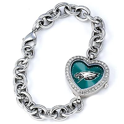 NFL Women's FH-PHI Heart Collection Philadelphia Eagles Watch