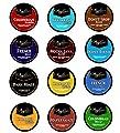 12ct Angelino's Variety Pack for Keurig K-cup Coffee Brewers, 12 Assorted Single Cup Sampler for Keurig Kcup Brewers
