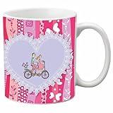 Printland Be My Ride Valentine day White Coffee Mug 350 - ml CMW5042