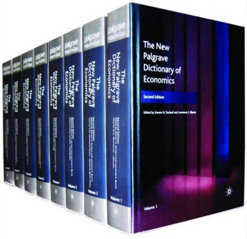 The New Palgrave Dictionary of Economics, Second Edition: Volume 6