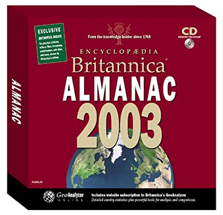 Encyclopedia Britannica 2003 Almanac (Jewel Case)