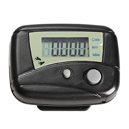 1-Schwarz-Digital-LCD-Run-Schritt-Bewegung-Run-Schrittzhler-Walking-Kalorienzhler-Entfernung-Schrittzhler-Schwarz