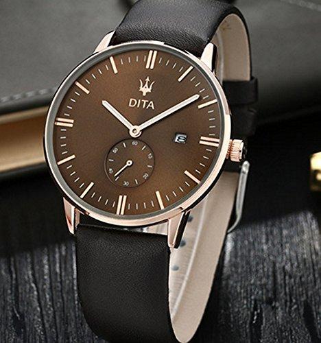 高級クウォーツ腕時計 スイス メンズ ブランド スイス 防水 蓄光 防火 クォーツ ビジネス 日付付き プレゼント (おまけ・ブレスレット付き)