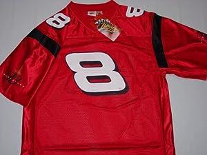 Dale Earnhardt Jr #8 NASCAR Red Football Jersey Winner