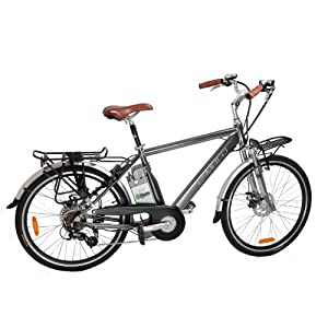 e-Moto 2.0 Velocity 37-Volt Comfort Electric Bicycle (Silver, 26-19-Inch)