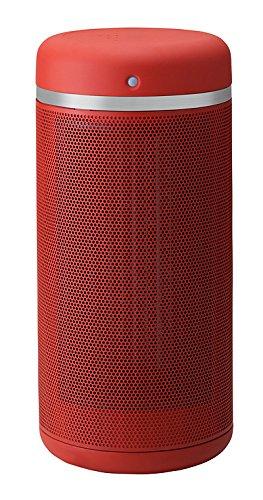 人感センサー付セラミックヒーター「センサースイングヒート」 レッド CHT-1534RD