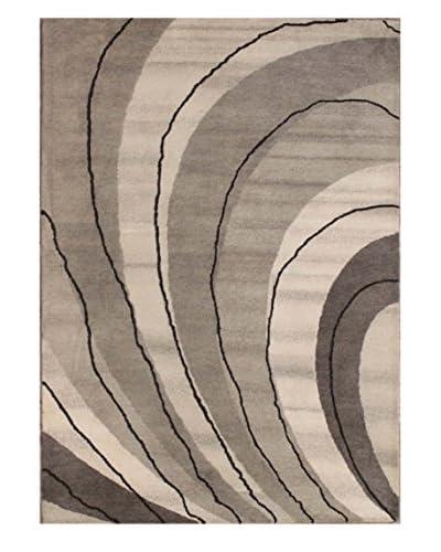 Wave Rug, Grey, 5' x 8'