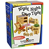 Small World Toys Ryans Room Wooden Doll House -Night, Night Sleep Tight Nursery Room