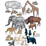LITTLE FOLKS VISUALS LFV22305 WILD ANIMALS FLANNELBOARD SET