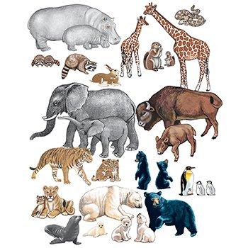 Little Folk Visuals Wild Animals PRE CUT Flannelboard Figures