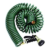 The Rumford Gardener GA5000 50 Foot Garden Coil Hose with Multi Pattern No