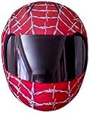 SkullSkins Wired Web Motorcycle Helmet Street Skin (Red)