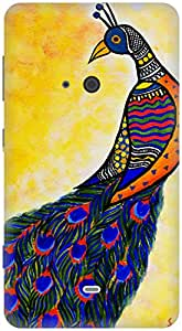 The Racoon Lean Colours in my wing hard plastic printed back case / cover for Nokia Lumia 625
