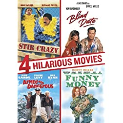 4 Hilarious Movies Collection (Armed and Dangerous, Blind Date, Stir Crazy, Funny Money)