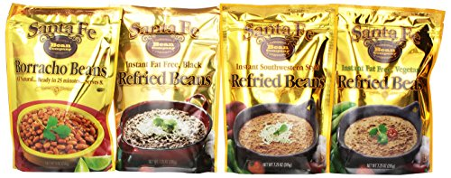 Santa Fe Bean Company Variety Pack, 3.78 Pounds Total, (Pack of 8) (Freeze Dried Refried Beans compare prices)