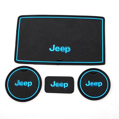 Toppower Anti-dust JK Jeep Wrangler Non-Slip Interior Door and Cup Mats
