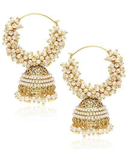 Royal Bling Metal Jhumki Earrings For Girls/Women