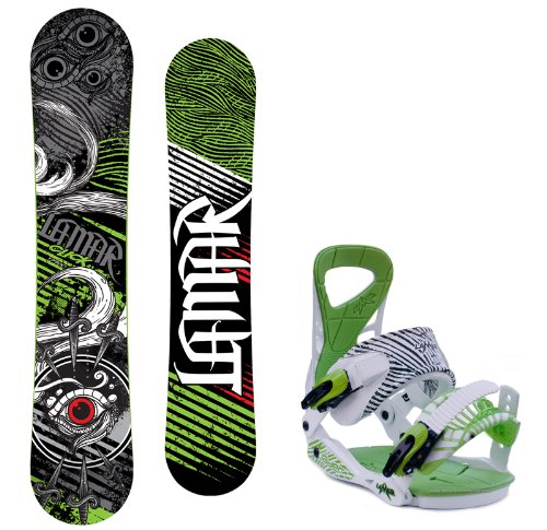 Lamar Click Men's Snowboard with Matching Vader Bindings - Board Size 151 (Large (10-13))