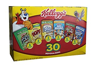 Kelloggs Variety Cereal, 31.37-Ounce