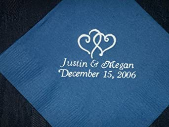 100 Personalized Luncheon Dinner Napkins for Holidays, Weddings, Birthdays, Baby Showers, Graduations