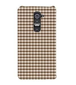 Brown Checks 3D Hard Polycarbonate Designer Back Case Cover for LG G2 :: LG G2 D800 D980