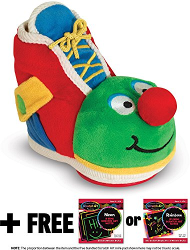K's Kids Learning Shoe Toy + FREE Melissa & Doug Scratch Art Mini-Pad Bundle [91534]