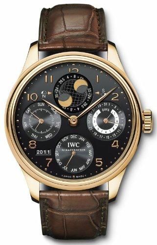 IWC Portuguese Perpetual Calendar Black Dial Mens Watch 5032-02