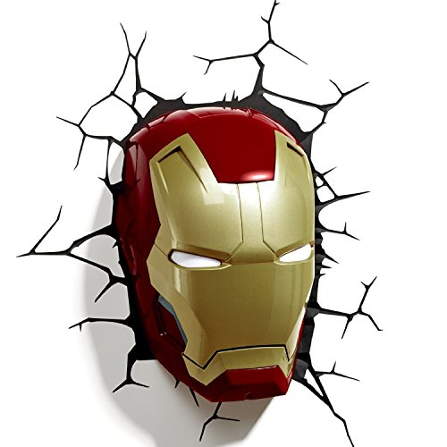 3D Light FX Marvel Iron Man Mask 3D Deco LED Wall Light (Discontinued by manufacturer)